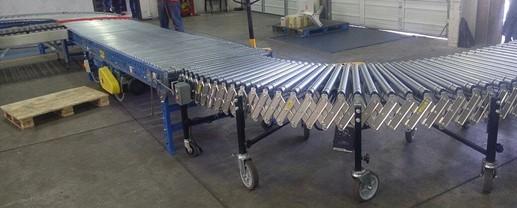 Transportador de rodillos para paquetería