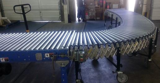 transportador de rodillos para paqueterias